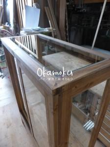ガラスケース120(木製木枠・オーダー)/天板から見たところ