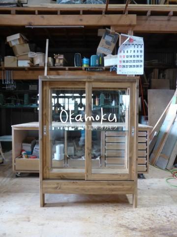 ガラスケース120(木製木枠・オーダー)/正面