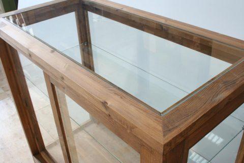 木枠ガラスケース天板
