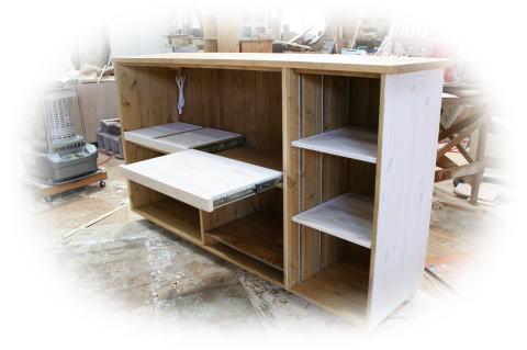 可動式キッチンカウンター収納
