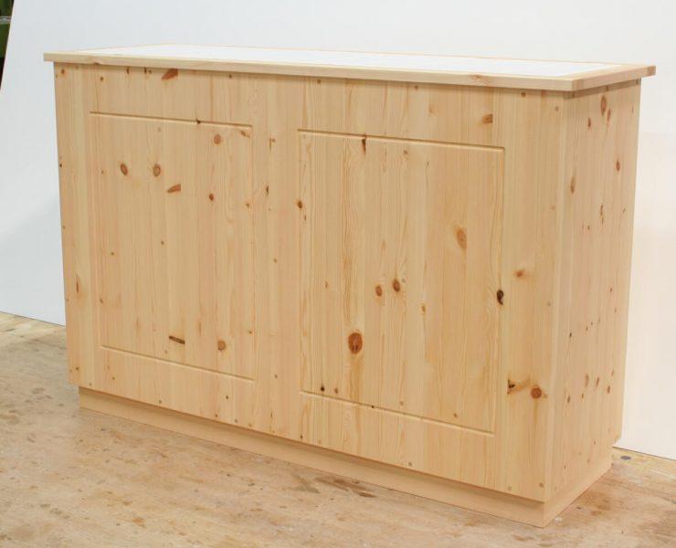 分別ダストボックスタイプの両面キッチンカウンター(背面)