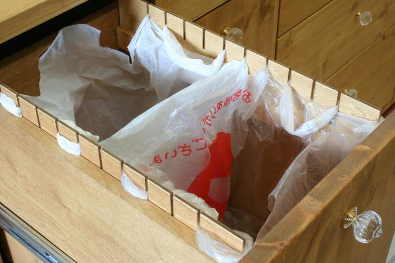 袋ひっかけ式分別収納